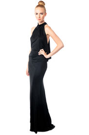 Beautiful Fashion Model In An Evening Gown