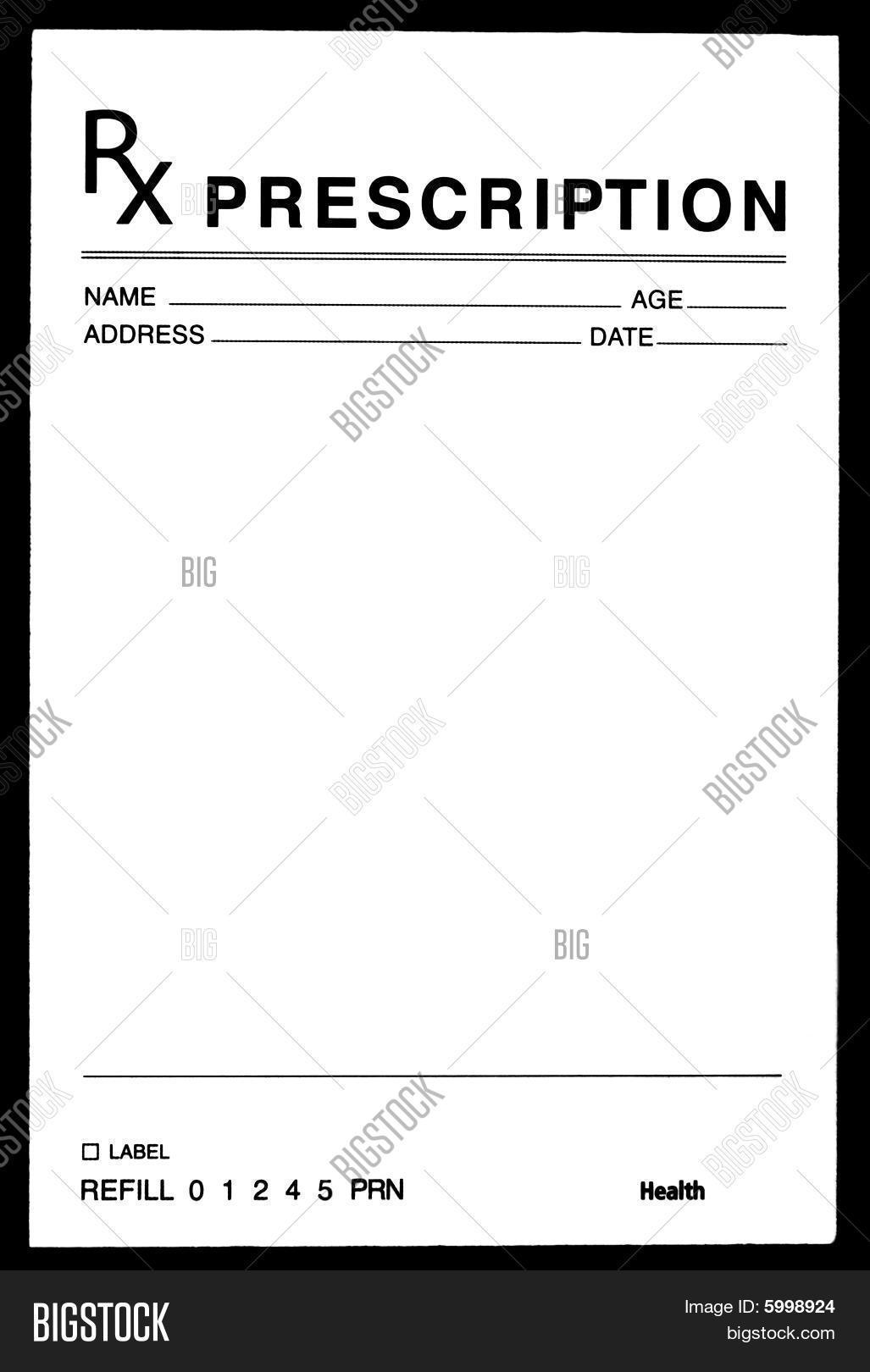 Blank Prescription Image Photo Free Trial