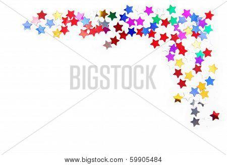 confetti colorful frame space