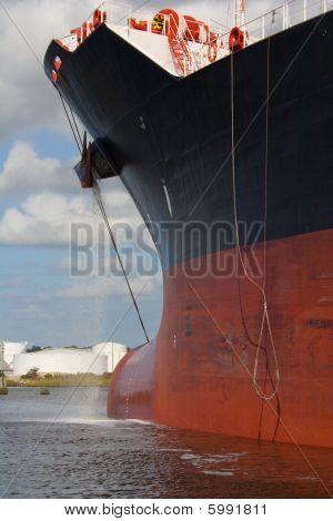 cargo ship bow