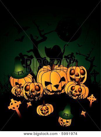 Halloween pumpkin-vector