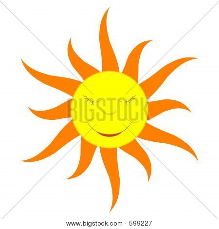 Cartoon Sun (solid Color)