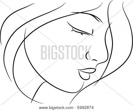 Beautiful girl sketch