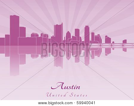 Austin Skyline In Purple Radiant Orchid