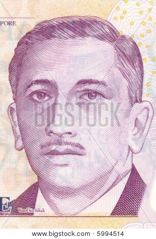 Portrait Of The First President Of Singapore Yusof Bin Ishak