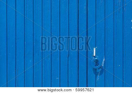 Old Wooden Blue Door.