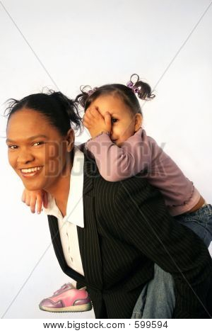 Business Woman And Child