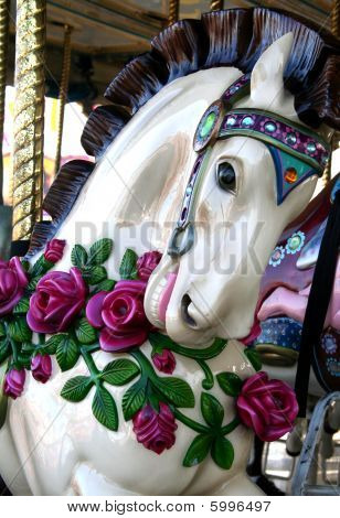 Floral Carousel Horse