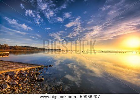 Sunrise Over Benbrook Lake