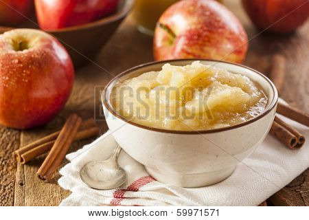 Healthy Organic Applesauce With Cinnamon