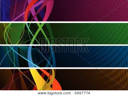 Colourful Abstract banners