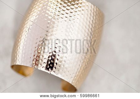 Wide Gold Bangle Bracelet