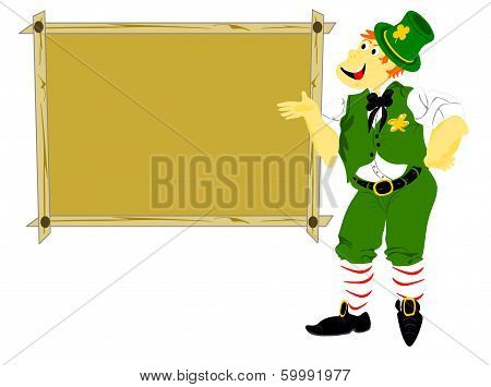 Leprechaun Tall With Sign