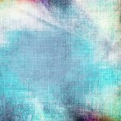 old paper grunge background with delicate abstract canvas texture and blue sky view poster