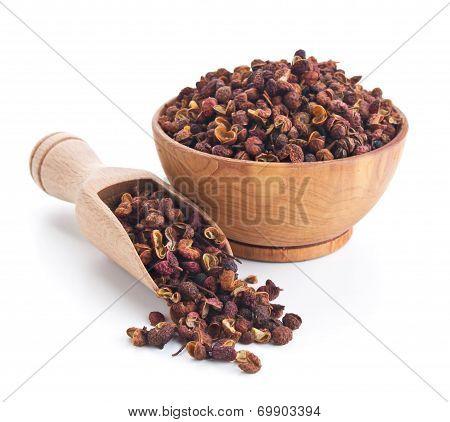 Szechuan Pepper Isolated On White