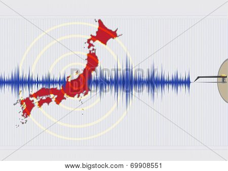 Japan Earthquake Concept Illustration