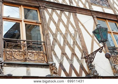 Timbered House On Street Rue Saint Laud, Angers