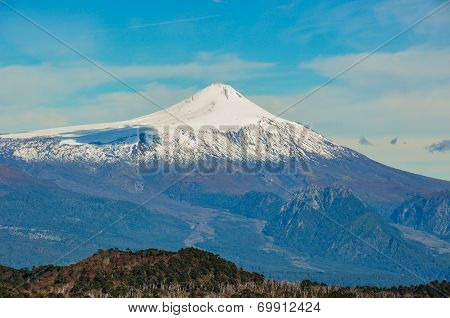Volcan Villarrica Viewed From Santuario El Cani, Near Pucon, Chile