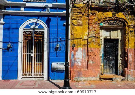 New Versus Old Colonial Style, Mazatlan, Mexico