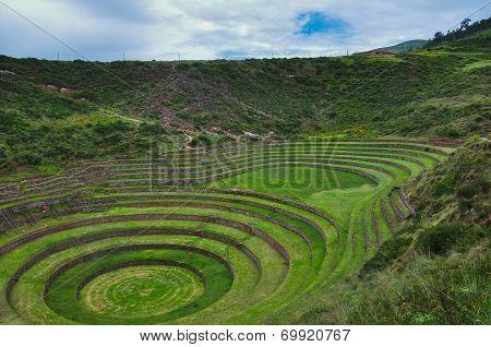 Moray Inca's Ruins, Sacred Valley in Peru