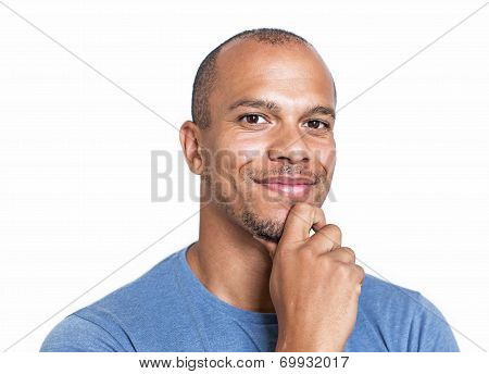 Portrait of a mixed race man smiling confidently to camera