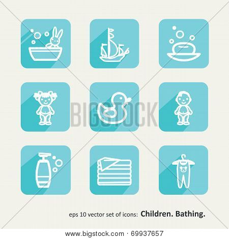 Children. Bathing.