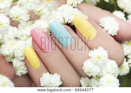 Pastel manicure.