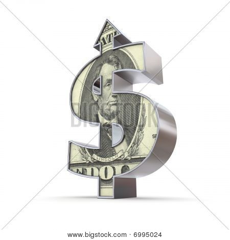 Dollar Symbol Arrow Up - Dollar-textured