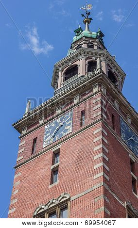 Tower Of The Rathaus In Leer