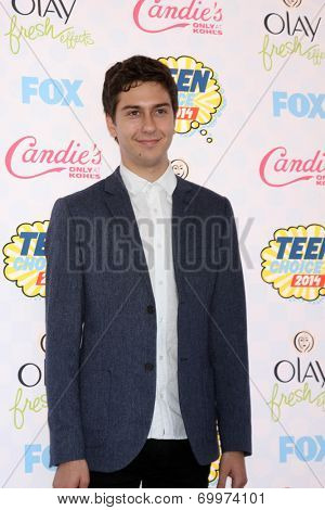 LOS ANGELES - AUG 10:  Nat Wolff at the 2014 Teen Choice Awards Press Room at Shrine Auditorium on August 10, 2014 in Los Angeles, CA
