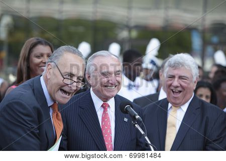 Charles Schumer, William Bratton & Frank Seddio