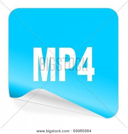 mp4 blue sticker icon