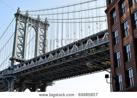 Detail Of Manhattan Bridge