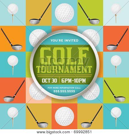 Golf Tournament Illustration