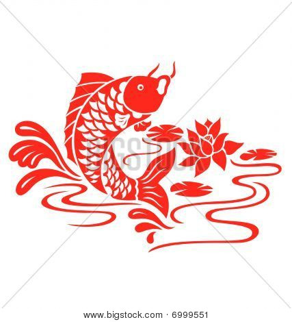 Oriental Fish Swimming