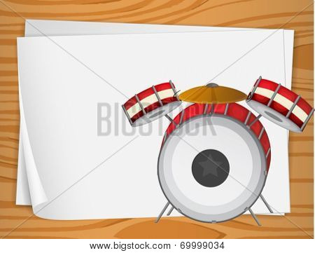 Illustration of the empty bondpapers with drums