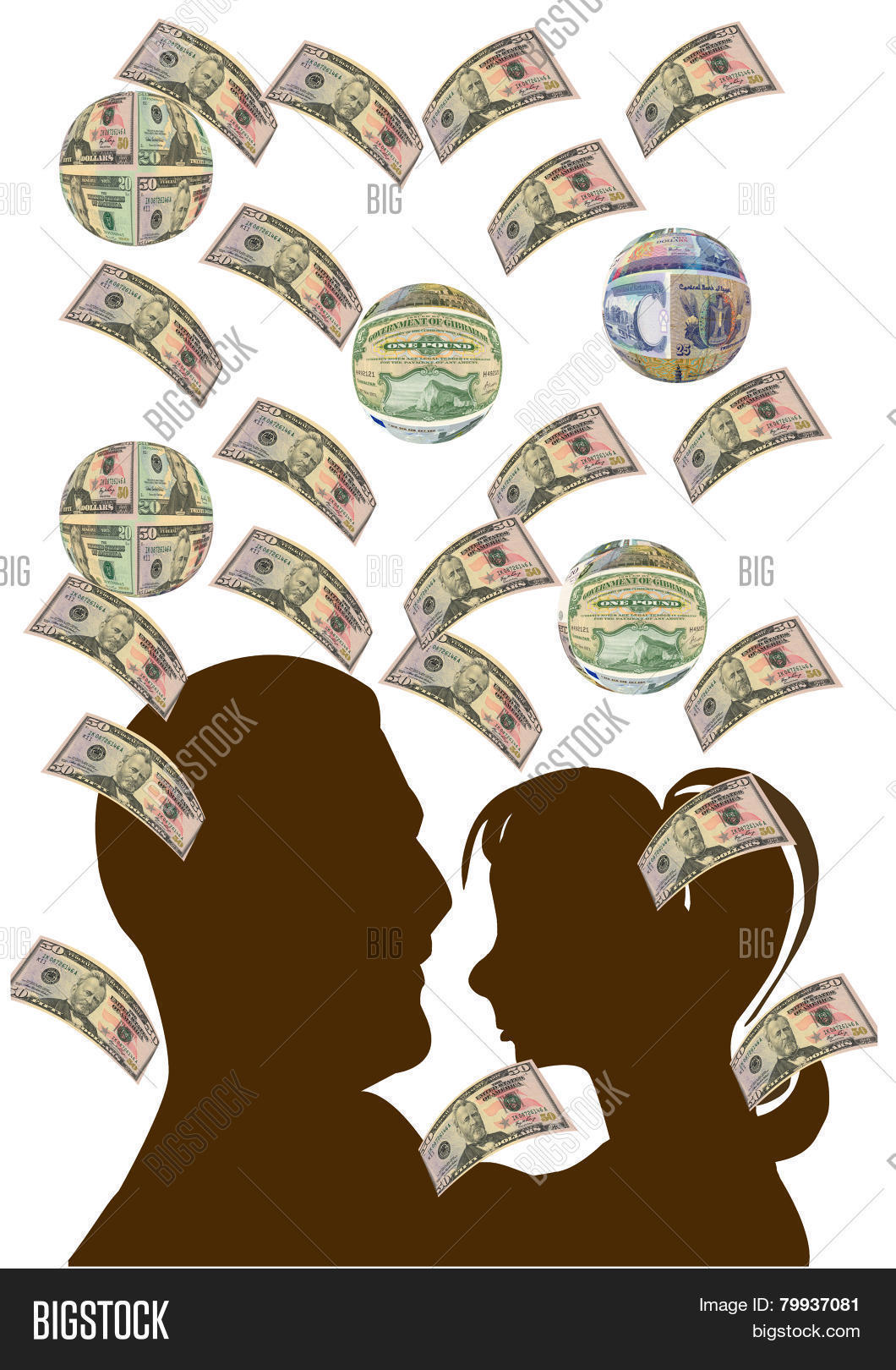 Money Raining Down On Image Photo Free Trial Bigstock