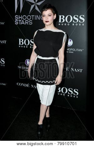 LOS ANGELES - JAN 9:  Rose McGowan at the W Magazine`s Shooting Stars Exhibit at the Old May Company Building on January 9, 2015 in Los Angeles, CA