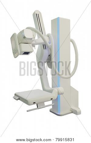 x-ray machine in hospital isolated under the white background