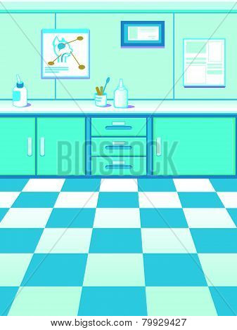 Cartoon Doctor's Office Game Background