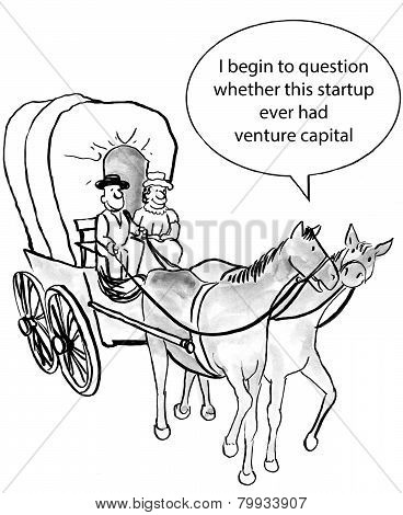 The startup company needs venture capital to cover expenses. poster