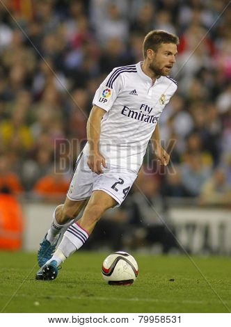 BARCELONA - MAY,11: Asier Illarramendi of Real Madrid during the Spanish Kings Cup match against UE Cornella at the Estadi Cornella on October 29, 2014 in Barcelona, Spain