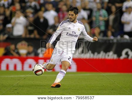 BARCELONA - MAY,11: Isco Alarcon of Real Madrid during the Spanish Kings Cup match against UE Cornella at the Estadi Cornella on October 29, 2014 in Barcelona, Spain