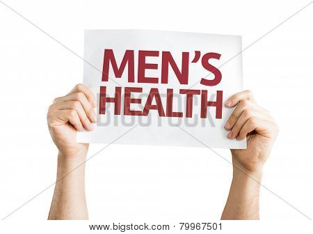 Men's Health card isolated on white background