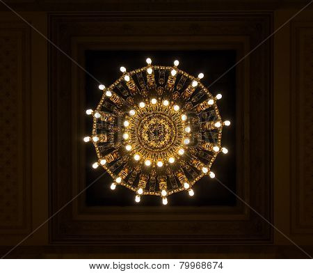 Chandelier View From Below Creates Abstract