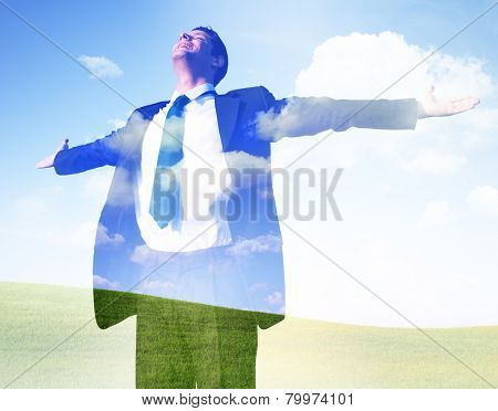 BusinessmanFreedom Getting Away From It All Success Concept