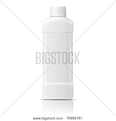 White plastic bottle for dishwashing liquid.