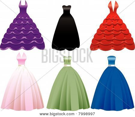 Formal Gown Dress Icons