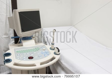 Examination Bed And Ultrasound Scanner