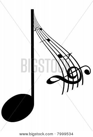 Abstrac Illustration of a music note